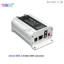 Fast Shipping DC12V ArtNet DMX Converter; Artnet DMX 2;ArtNet; DMX 1024 ช่องเอาต์พุต 512 * 2CHช่อง