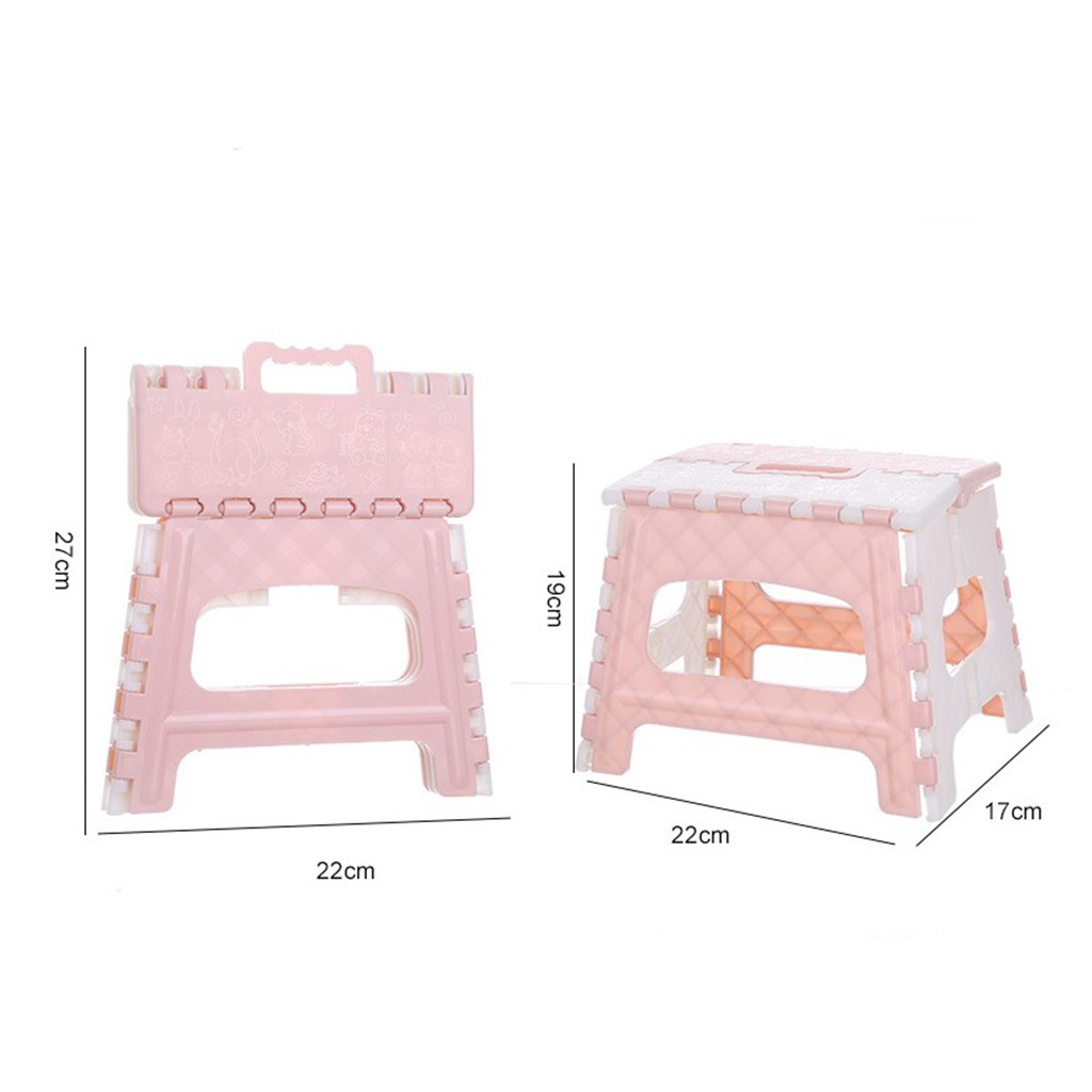 Plastic Folding Step Stool Home Train Outdoor Storage Foldable Outdoor Storage Foldable Kids holding stool camping Hot Sale#30 6