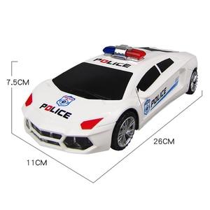 Image 5 - 360 degrés roues rotatives Cool éclairage musique enfants voitures de Police électroniques jouet début jouets éducatifs pour bébé garçons enfants cadeaux
