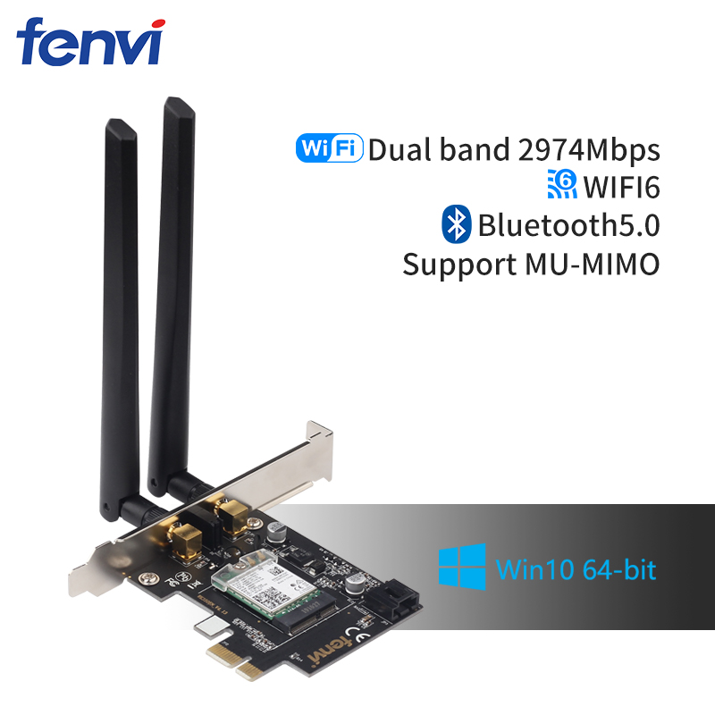 Desktop Wi-Fi 6 PCI-E Wireless Adapter 2.4Gbps 2.4G/5Ghz 802.11ac/ax Bluetooth 5.0 AX200NGW Wifi Card For Intel AX200 MU-MIMO(China)