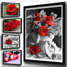 Rose Flower Diamond Art Flower Diamond Painting Set Cross Stitch Kits EmbroideryDiamond Painting Full Drill sunflower diamond paiting flower diamond painting full cross stitch diamond painting full drill round