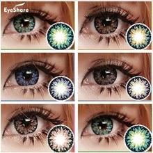 EYESHARE – lentilles de Contact colorées, série Milk-Shake, utilisation annuelle, cosmétique, couleur des yeux