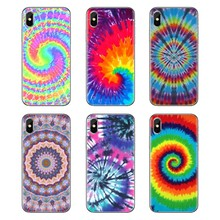 Pour Huawei Nova 2 3 2i 3i Y6 Y7 Y9 Prime Pro GR3 GR5 2017 2018 2019 Y5II Y6II Tye teinture Tie-teinture Hippies moines Lent TPU coques couverture(China)