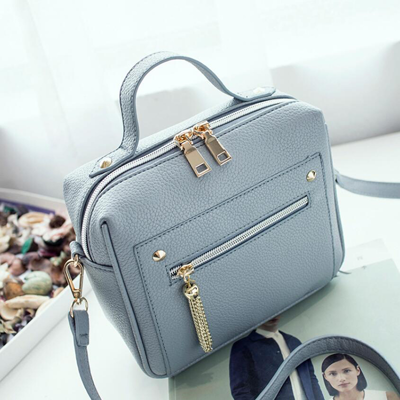 2020 New Tassel Fashion Pu Leather Solid Women Handbags Hotsale Ladies Shopping Bag Casual Shoulder Messenger Crossbody Bags