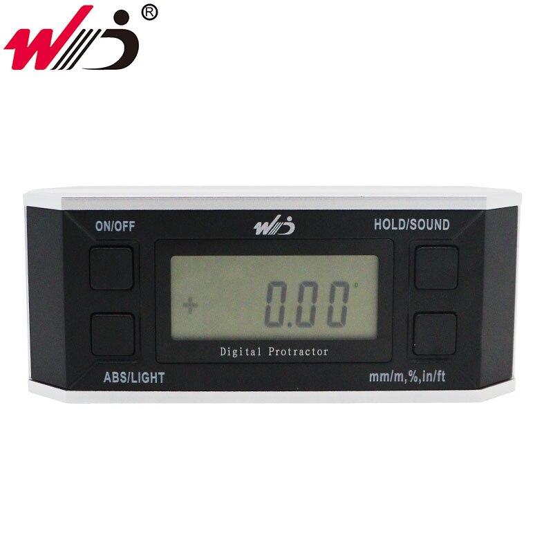 360 graus de metal ângulo calibre eletrônico digital transferidor inclinômetro ângulo finder nível caixa medidor ferramentas medição