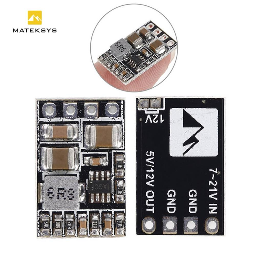 Light Weight Matek Micro BEC Step-down Module 5/12 V Output 2-5s Lipo Battery For RC Drone FPV Quadcopter