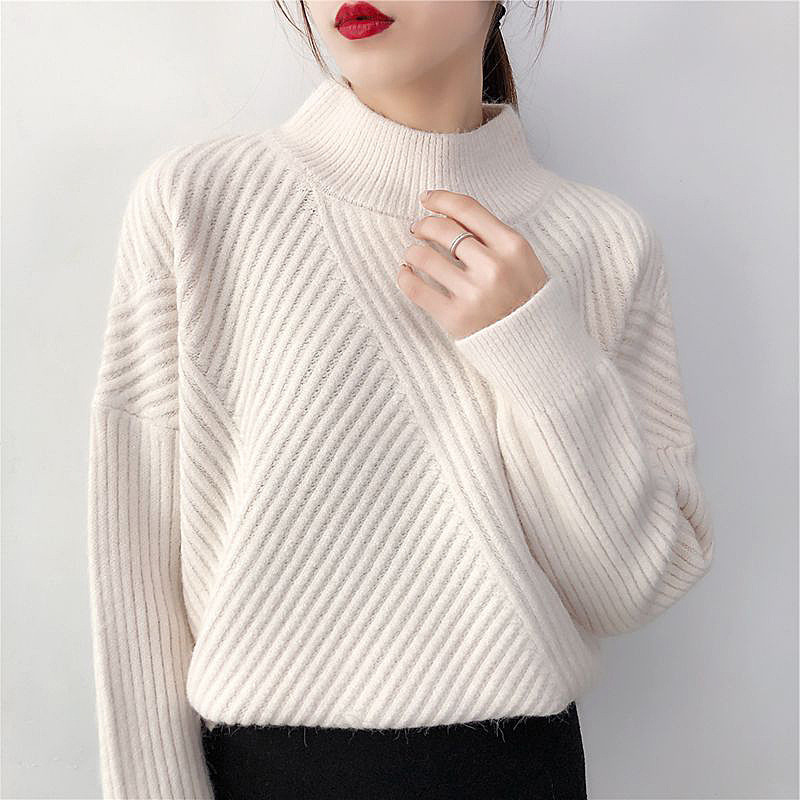 Autumn Women Turtleneck Winter Sweater Suete Jumper Oversize Shrug Loose Pullover Female Sweater Pull Long Sleeve Casual Clothes