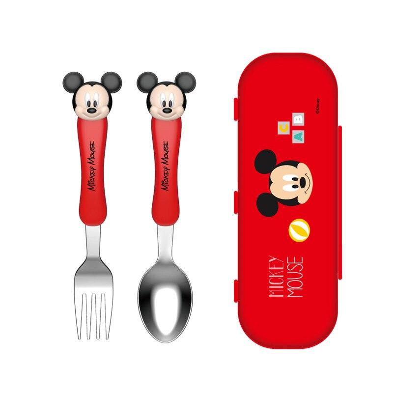 Baguettes pour enfants Disney baguettes d'entraînement bébé apprentissage pratique baguettes bébé auxiliaire cuillère fourchette ensemble de couverts (lot de 3)