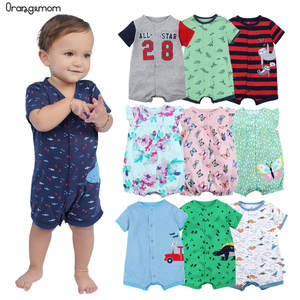 Orangemom official store Summer boys baby clothing Short Jumpsuit Newborn Romper Baby Boy Clothes infant roupas Baby Rompers