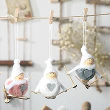 Lovely Ski Snowman Shape Doll Toy Christmas Kawaii  Xmas New Year Tree Decor Hanging Pendant