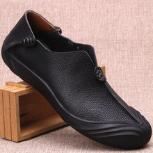 Vintage Chinese Fashion Men's Genuine Leather Shoes Breathab