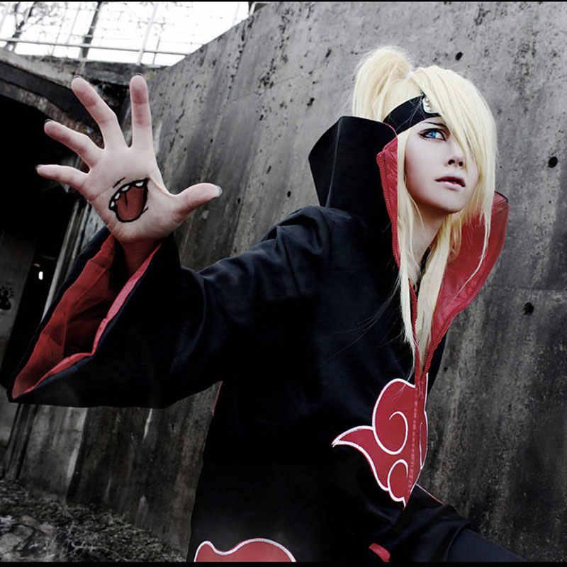 Anime Naruto Akatsuki Mantel Cosplay Kostum Uchiha Itachi Cincin Ikat Kepala Naruto Kapas Murni Paduan Seng Cosplay Headband