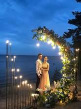 Цветок рамки стенд фон для свадебного декора Арка светодиодный
