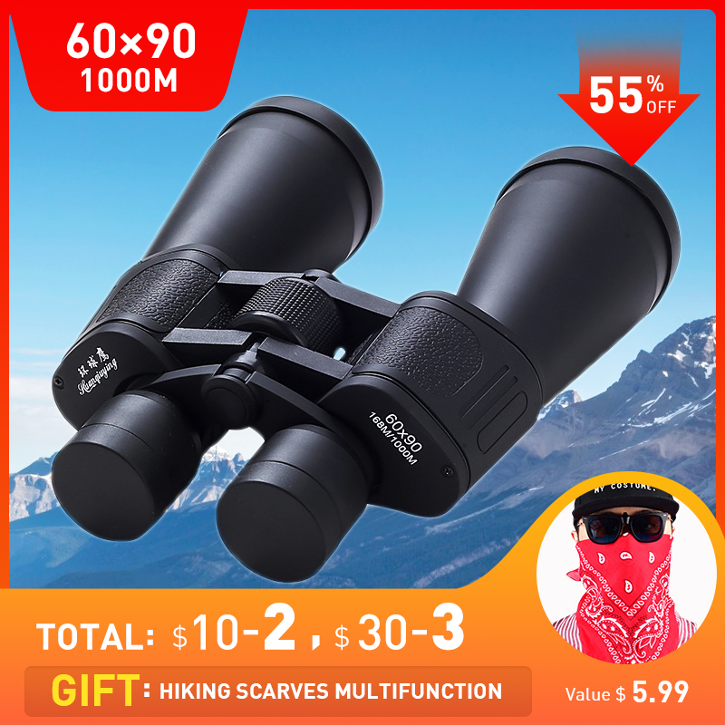 60X90 High Definition Portable Telescope Binoculars Professional Binocular Powerful Night Vision Hunting Binocular Professional image