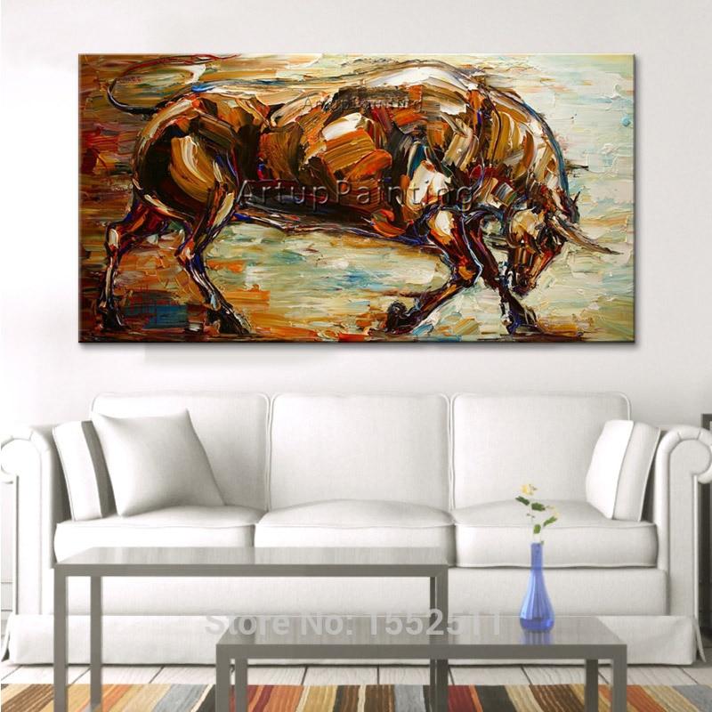 Modernos quadros decorativos de arte pop abstratos animais touro - Decoração de casa - Foto 6
