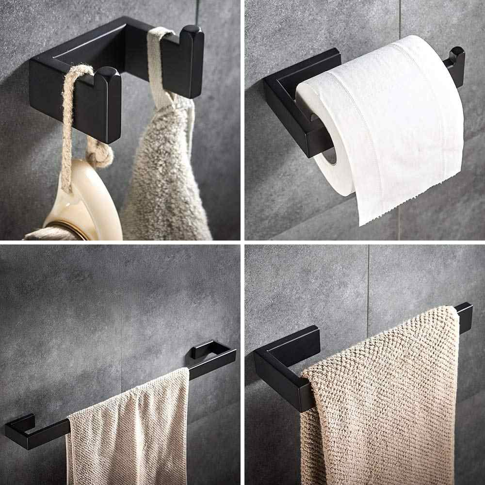 Toilet Roll Holder and Towel Ring Set Chrome 2 pieces Towel Ring Wall Mounted and Toilet Paper Holder Tissue Towel Ring Set Stainless Steel Hardware Set for Bathroom Kitchen Bar