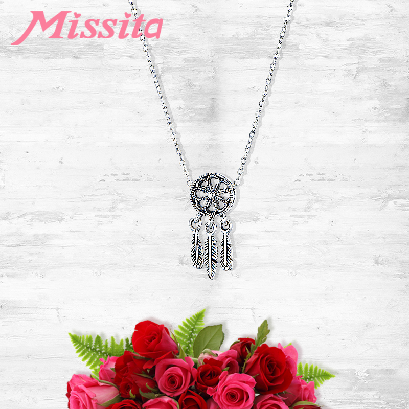 MISSITA Vintage Dream Catcher Pendant Necklaces for Women Wedding Anniversary Brand Fashion choker Jewelry Gift Hot Sale in Pendant Necklaces from Jewelry Accessories