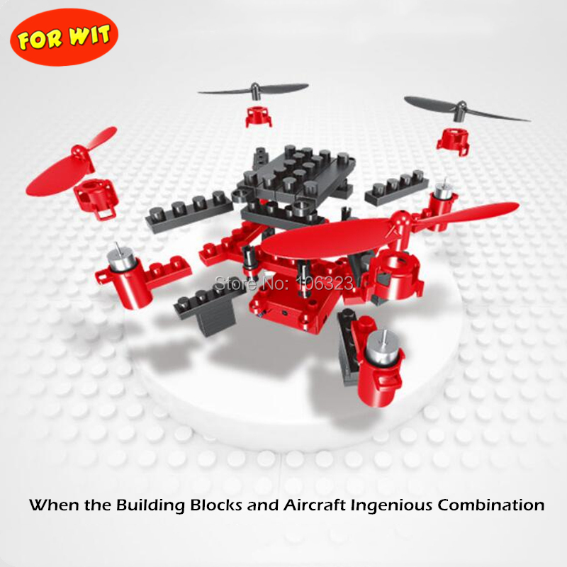 DIY Building Blocks Drone, 2.4G Aircraft 6-Axis Gyro, HD Camera Apple Store Google Play APP Control Quadrocopter, Wifi Transfer