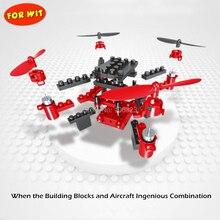DIY строительных блоков беспилотника, самолета 2.4 г 6-осевой гироскоп, камера HD яблочного магазина Google Play приложение управлять квадрокоптером, беспроводной передачи
