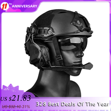 Helmet Airsoft Headset Tactical Earphone Cs-Wargame Paintball Army Military Hunting High-Quality