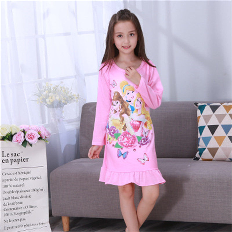 Pajamas Dresses Sleepwear Nightgown Girl Baby Princess Cotton Summer Children Top Listing title=