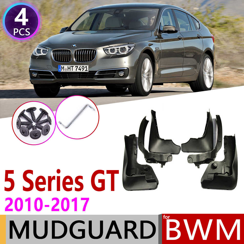 สำหรับ BMW 5 Series Gran Turismo GT F07 2010 ~ 2017 Mudguard Fender Mud Guard Flaps Splash Flap Mudguards อุปกรณ์เสริม 535i 550i 530d