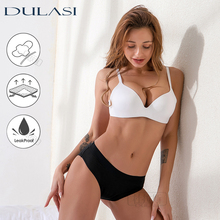 4-Layer Leakproof Women Panties Menstrual Underwear Period Absorbtent Bamboo Heavy Absorbency Briefs Incontinence Dropshipping cheap DULASI Bamboo Fiber Cotton Polyester Viscose CN(Origin) 9091 70 Bamboo+ 30 Viscose Solid NONE Mid-Rise Super Absorption