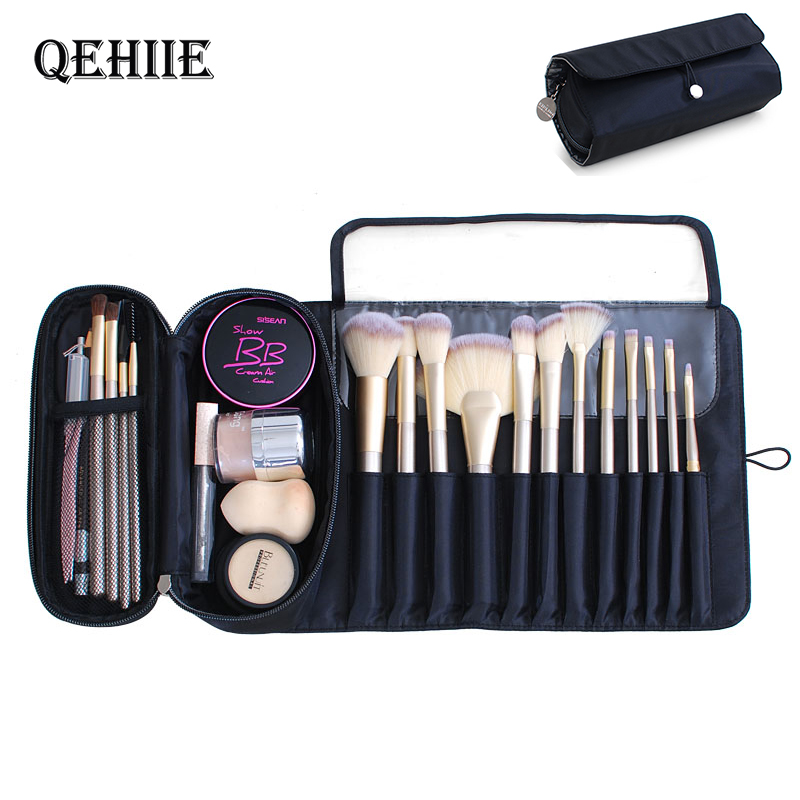 Travel Organizer Cosmetic Bag Makeup Brush Case Travel Makeup Pouch Professional Beauty Container Storage Big Cosmetic Organizer
