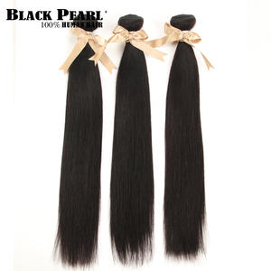 Hair Weave Black Pearl Deal Natural-Color Straight 3-Bundles 8-30-Inches