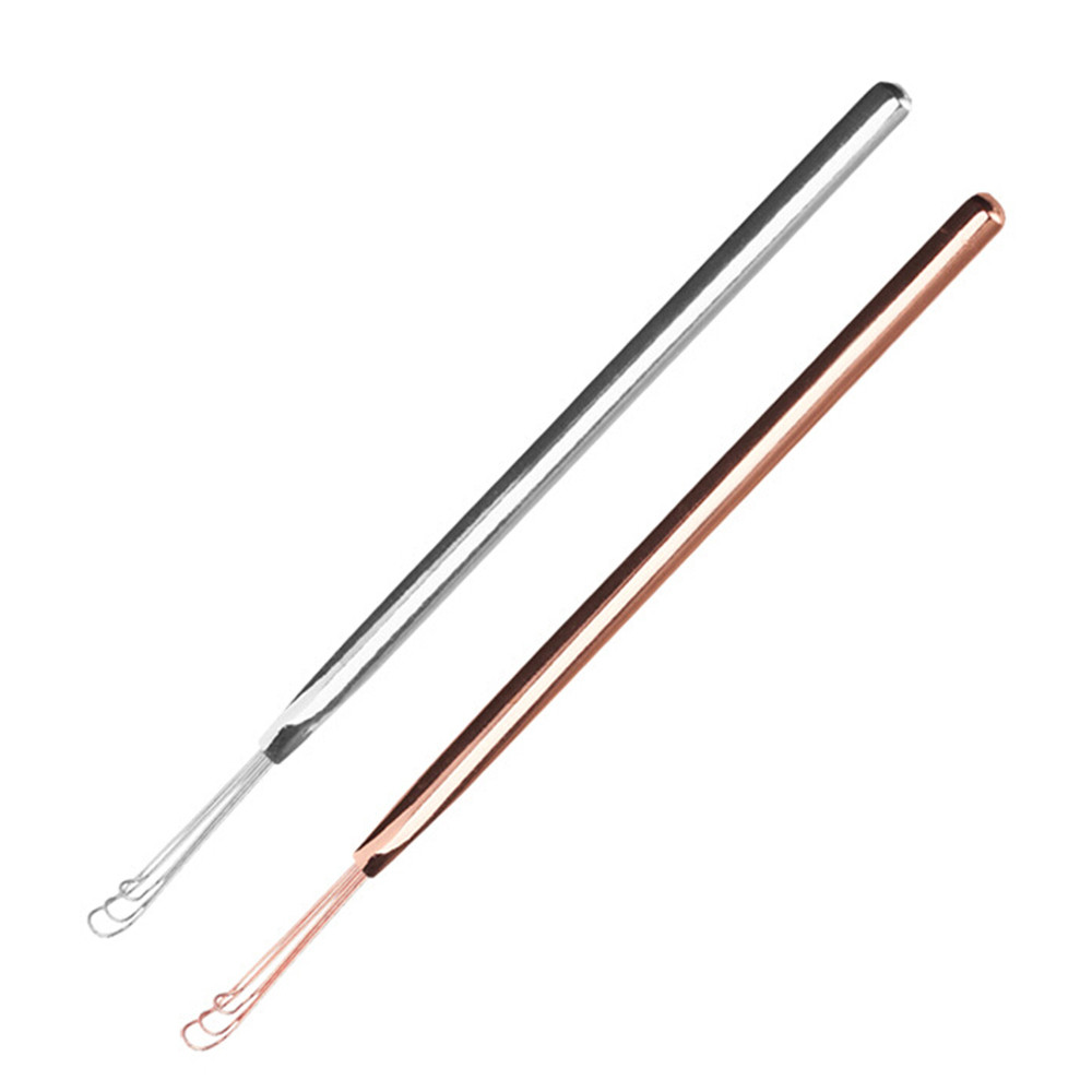 New 3 Fork Ear Wax Pickers Stainless Steel Ear Picks Wax Removal Curette Remover Cleaning Stick Tool EarPick Facial Beauty Tools