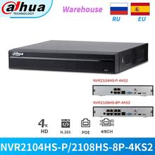 Dahua NVR Video-Recorder NVR2104HS-P-4KS2 Onvif Security Network Cctv-Ip-Camera 8CH Support