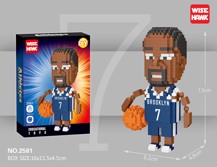 Micro Nbain Basketball Player Mini Building Blocks Figure Diamond Bricks Toys DIY Educational Model Harden Curry Kobe James
