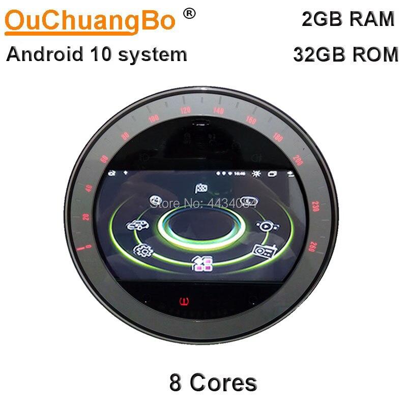 Ouchuangbo 4G Android 10 автомобильное радио GPS аудио стерео для Mini Clubman One S R55 R56 R57 R58 R60 серебристый 2007-2010 с 32 Гб 8 ядер