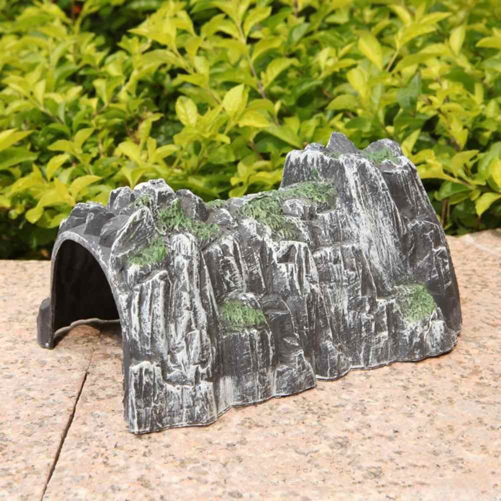 Simulation Rockery Train Cave Tunnel Model DIY Miniature Railway Scene Accessory Simulated Cave Scene Model Toys Gift For Kids