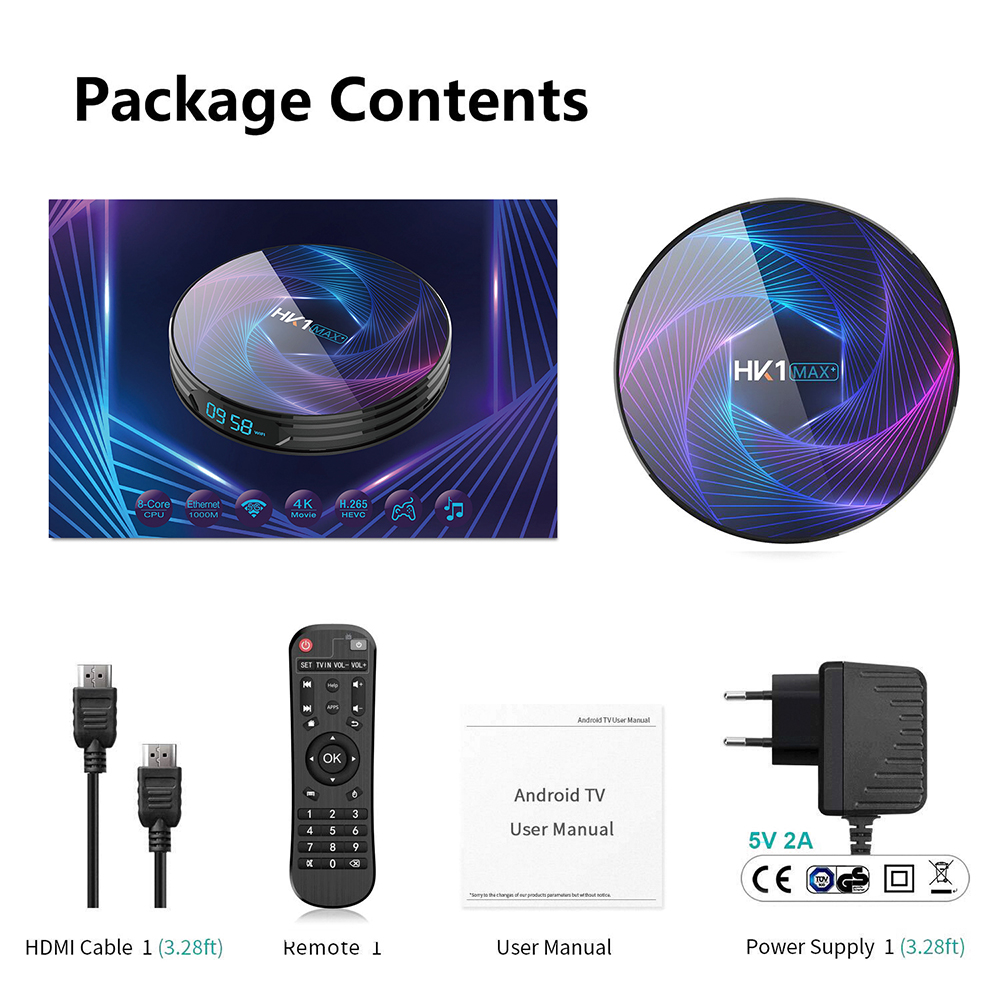 HK1 MAX Plus Octa Core Android 9.0 Smart TV Box 4GB 128GB 64GB 32GB RK3368PRO 1080P H.265 4K youtube Netflix HK1MAX décodeur - 6