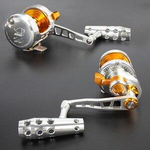 Image 2 - Madox moulinet en alliage de métal, avec alarme, pour pêche en mer, en haute mer, avec frein de 30kg Max, 11BB, Pe4 à 400m, pour Slow Jigging