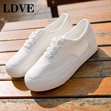 Summer Sneakers Wedges Canvas Shoes Women Casual Female Cute White Basket Stars Zapatos Mujer Trainers 5 cm Height tenis