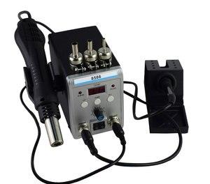 Image 2 - 新しいeruntop 8586デジタルディスプレイ電気はんだこて + diy熱風銃より良いsmdリワークステーション