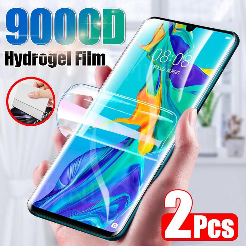 Защитная пленка для экрана 2 шт. для Huawei P30 P20 P40 Lite Pro P Smart 2019 полное покрытие гидрогель пленка для Huawei Mate 20 30 Pro не стекло