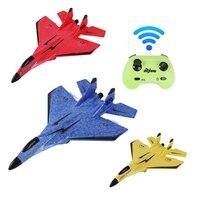 Avión teledirigido de 2,4G para niños, planeador de espuma, Avión de Control remoto de ala fija, juguetes eléctricos al aire libre, regalo