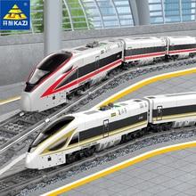 Original kazi 98229 cidade elétrica trem blocos de construção brinquedos pista montagem presentes menino revival trem crianças brinquedos