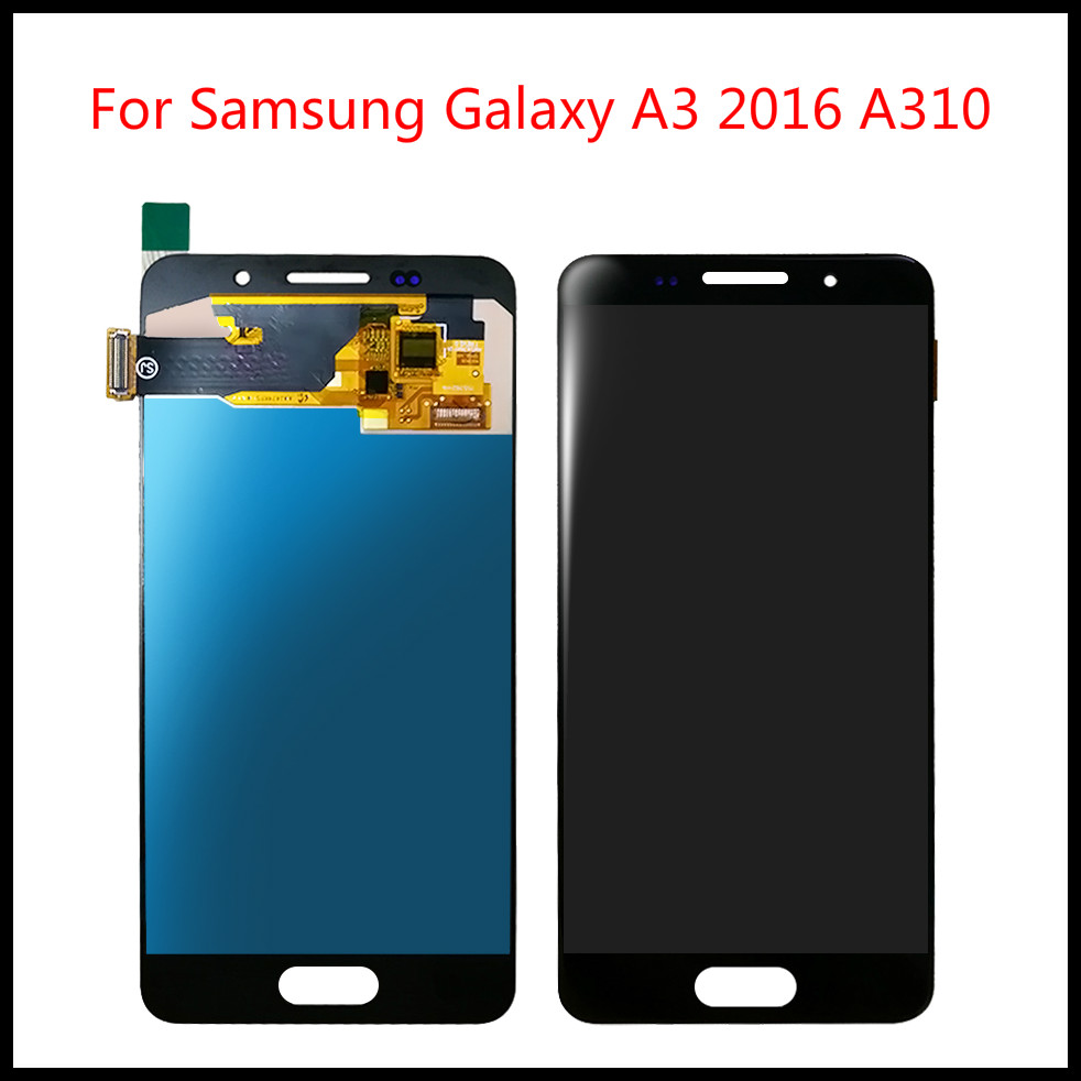Top Quality For <font><b>Samsung</b></font> Galaxy A3 2016 A310 <font><b>A310F</b></font> A310H A310M LCD Tested <font><b>Display</b></font> Digitizer Touch <font><b>Screen</b></font> Assembly +Tools image