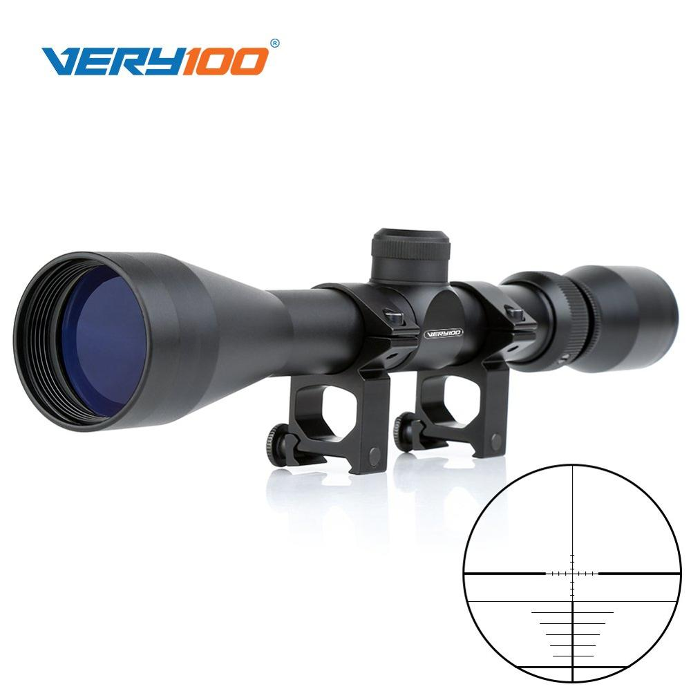 New 3-9x40 Mil Dot Zoom Sniper Air Rifle Scope Telescopic Sight Optics With 20MM Rail Mount For Hunting