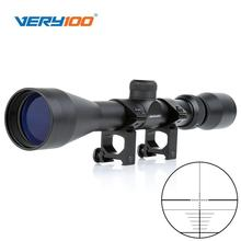 New 3-9x40 Mil Dot Zoom Sniper Air Rifle Scope Telescopic Sight Optics with 20MM