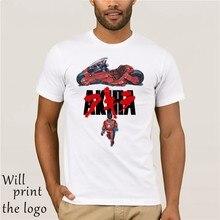 Akira synthwave maglietta de modo de estate maglietta anime giapponese tshirt casual stampa em bianco por