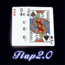 Trucos de magia con solapa que cambian de forma continua, Doble Tarjeta, trucos de magia, accesorios para trucos de ilusionismo, mentalismo, 2,0