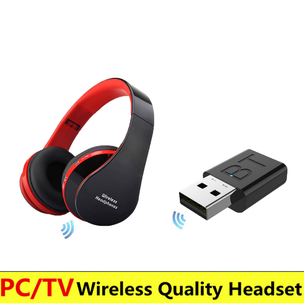 Multi-occasion Wireless Headset For TV Computer 3.5mm High-fidelity Sound Bluetooth Headset With Adapter For TV, Desktop