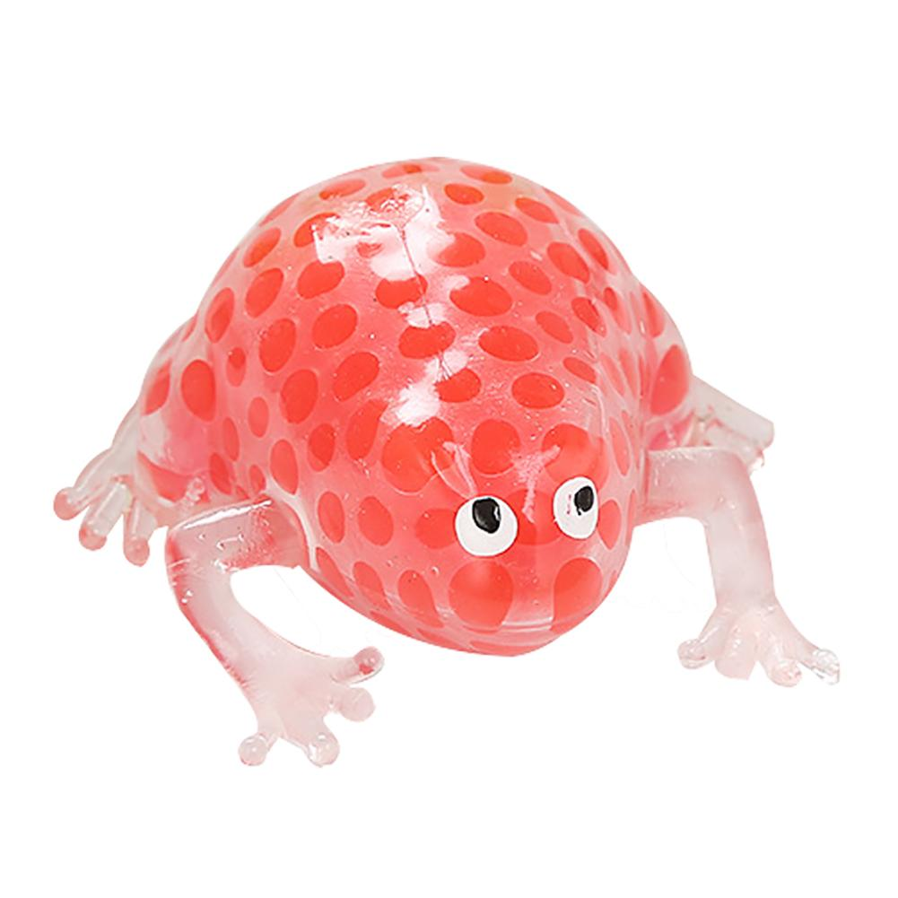 Solid Color Mini Frog Water Bead Filled Squeeze Toy Antistress Spiky Ball Fidget Sensory Kids Adults Toys For Children