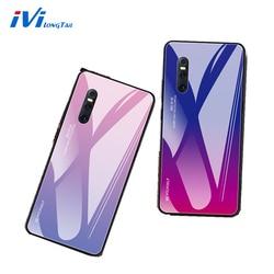 На Алиэкспресс купить чехол для смартфона ivilongtail gradient tempered glass phone case for vivo x21 x23 x27 z1 z3 z3i s1 v9 v11i v15 y85 iqoo full phone protective case