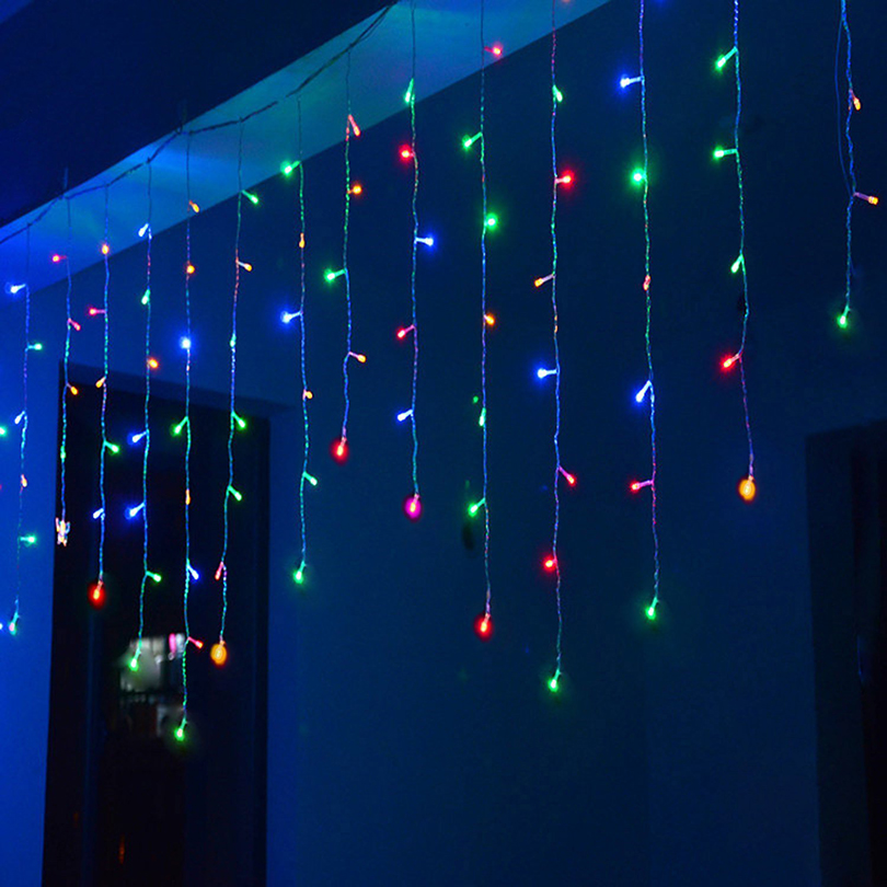 fairy tale string 8 mode 4x0.6 Icicle curtain Llights 96 leds flashing lights indoor wedding outdoor holiday garden decor lamp